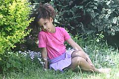 Tričká - Ružové batikované detské srdiečko - 9476718_