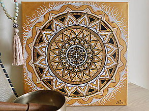 "Obrazy - Mandala ""HOJNOSTI"" 30 x 30 cm - 9476761_"