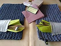 Úžitkový textil - prestieranie TY a JA z kolekcie JEANS - 9474355_