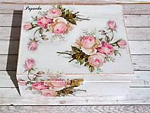 Krabičky - Krabička ružičky - 9474205_