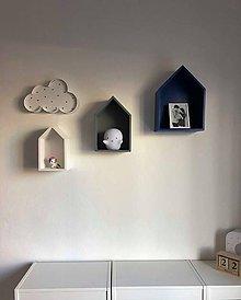Nábytok - drevené domčeky - poličky - 9474311_
