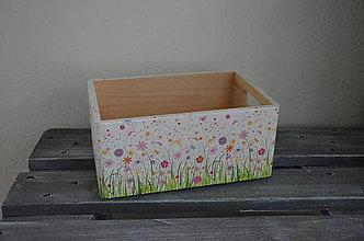 """Nábytok - bednička """"Na rozkvitnutej lúke"""" (Béžová) - 9475980_"""
