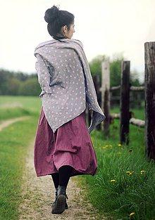 Šatky - Puntíkový šátek - 9476350_