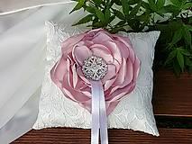 Prstene - Svadobný vankúšik - 9475929_