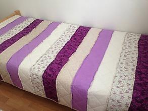 Úžitkový textil - Pásiková rag strapatá deka - 9475819_