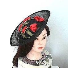 Ozdoby do vlasov - Spoločenský klobúčik s tulipánmi - 9475561_