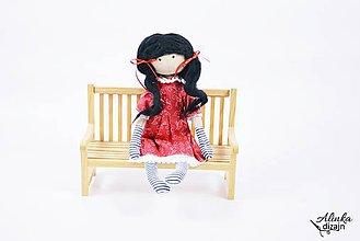 Bábiky - Dekoratívna bábika v červenom - 9478590_