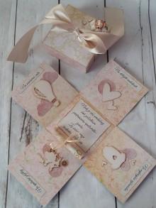 Papiernictvo - Svadobná krabička na peniaze (stužka na previazanie bankovky) - 9478508_