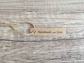 Papier - Visačka Handmade with love - 9477912_