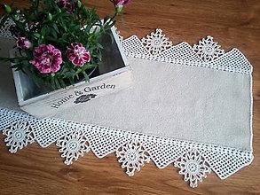 Úžitkový textil - ľanový s kvietkami - 9478002_
