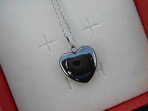 Náhrdelníky - hematite heart-chirurg.ocel - 9479780_