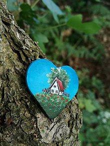 Odznaky/Brošne - Srdiečko - brošňa maľovaná - 9478706_