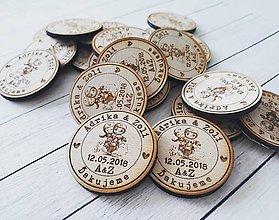 Darčeky pre svadobčanov - Svadobné magnetky - 9479655_