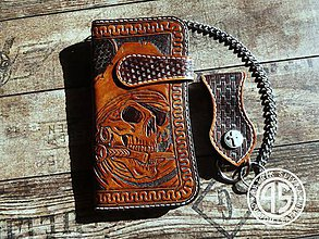 Peňaženky - Kožená peňaženka - 9479550_