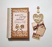Papiernictvo - Ručne šitý diár * zápisník * sketchbook A5 - 9476896_