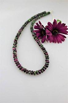 Náhrdelníky - rubín v zoisite náhrdelník so striebrom - 9477782_
