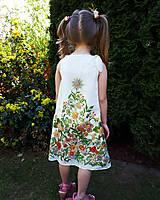 Sladká víla-hodvábne maľované dievčenské šaty