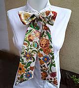 Šály - Mama víla-hodvábna maľovaná dámska viazanka - 9478797_