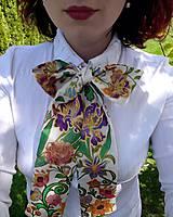 Šály - Mama víla-hodvábna maľovaná dámska viazanka - 9478801_