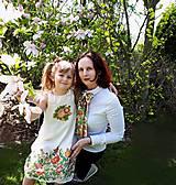 Šály - Mama víla-hodvábna maľovaná dámska viazanka - 9478802_