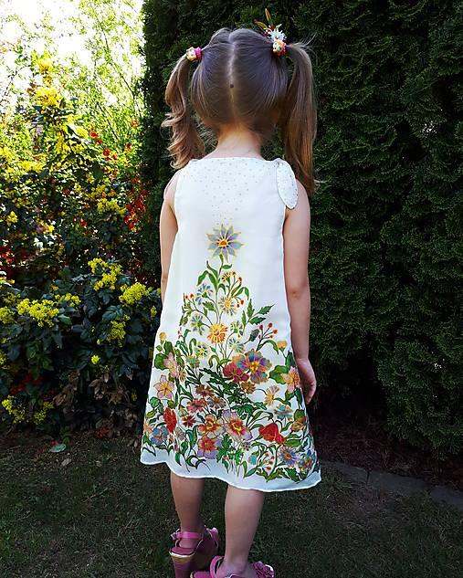 0649e081567d Sladká víla-hodvábne maľované dievčenské šaty   sacharinova - SAShE ...