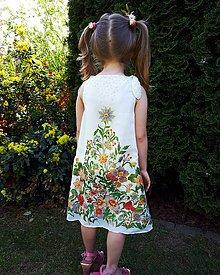 Detské oblečenie - Sladká víla-hodvábne maľované dievčenské šaty - 9478758_