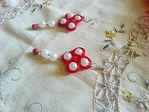 Náušnice - kvetinovo perlové náušnice - 9477953_