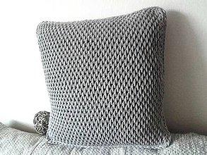 Úžitkový textil - Vankúš Nordic Day šedý - 9478491_