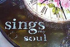 Hodiny - hodiny Sing my soul - 9479160_