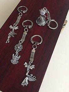 Kľúčenky - Kľúčenky anjeliky a krížiky - 9477399_