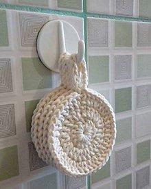 Úžitkový textil - Háčkované kozmetické tampóny s vrecúškom (Natural 100% bamboo) - 9476855_