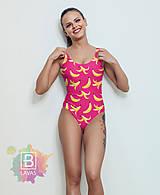 """Bielizeň/Plavky - Jednodielne plavky """"Bananas"""" - 9479389_"""
