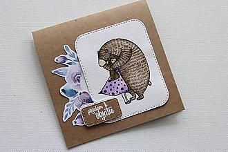 Papiernictvo - Pohľadnica - posielam ti objatie - 9479445_