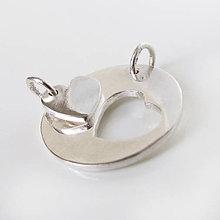 Náhrdelníky - Spolu: MojeSrdce_TvojeSrdce / strieborný dvojprívesok (Kruh 20mm) - 9477617_