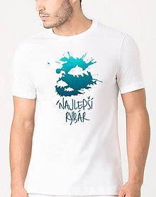 Oblečenie - Tričko pre rybára- Najlepší rybár - 9479369_