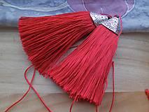 - Hodvábne strapce 8 cm (Červená) - 9479473_
