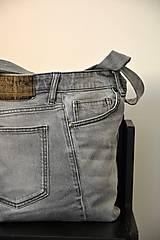 Veľké tašky - Recy džínová kabelka-oboustranná - 9478947_
