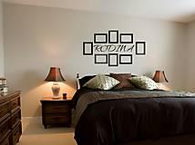 Dekorácie - Nálepky na stenu - Fotorámiky rodiny - 9477949_