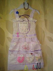 Textil - Detský vreckár sponkovník-šaty - 9477155_