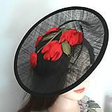 Ozdoby do vlasov - Spoločenský fascinátor s tulipánmi - 9477854_