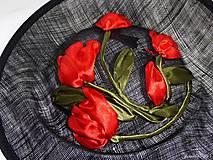 Ozdoby do vlasov - Spoločenský fascinátor s tulipánmi - 9477888_