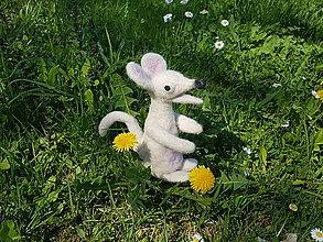 Dekorácie - Hryzuľa biela myškatá - 9482990_
