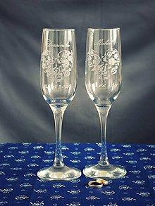 Nádoby - Svadobné poháre, srdiečko folk - 9482170_
