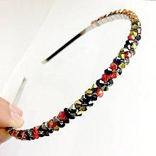 Ozdoby do vlasov - Elegant Bicone Beaded Headband / Elegantná čelenka s bicone korálkami #0256 - 9480299_