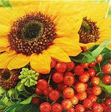 Papier - S1194 - Servítky - slnečnica, slnko, leto, teplo, plody - 9481432_