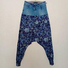 Nohavice - Haremky modré- zľava z 19,50 - 9480447_