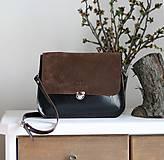Kožená kabelka Vanessa (hnedo-hnedá)