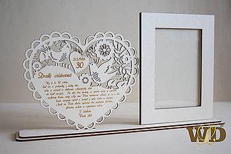 Rámiky - Výročie svadby - perlová svadba, 30te výročie svadby - 9482422_