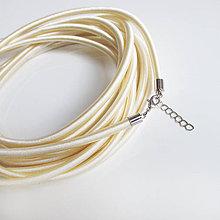 Komponenty - Hodvábny náhrdelník 5mm (Perlový) - 9482598_