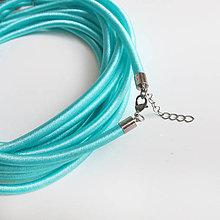 Komponenty - Hodvábny náhrdelník 5mm (Mentol) - 9482634_